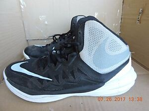 on sale cf423 487c7 Details about Nike Prime Hype DF II 806941-001 Men's Black& Gray Textile  Basketball Shoes 9