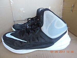 on sale 3807e 4247d Details about Nike Prime Hype DF II 806941-001 Men's Black& Gray Textile  Basketball Shoes 9