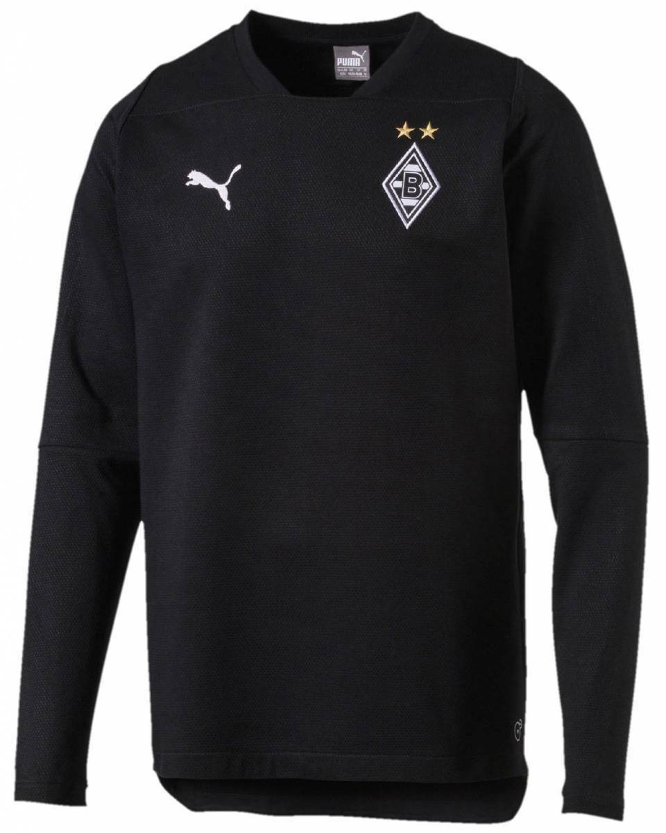 Puma Borussia Mönchengladbach Casuals Sweatshirt schwarz NEU 99316