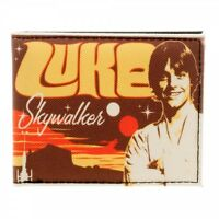 Luke Skywalker Retro Star Wars Bifold Wallet Landspeeder Live At Anchorhead