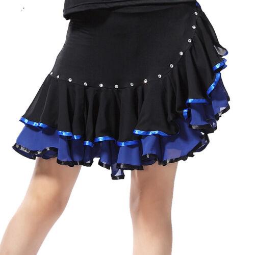 Latin salsa tango rumba Cha cha Square Ballroom Dance Dress#NN005 Skirt 5 Colors