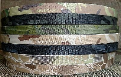 "Military Nylon Webbing CTE Edge 2/"" Multicam By the Yard 2 Side Print"