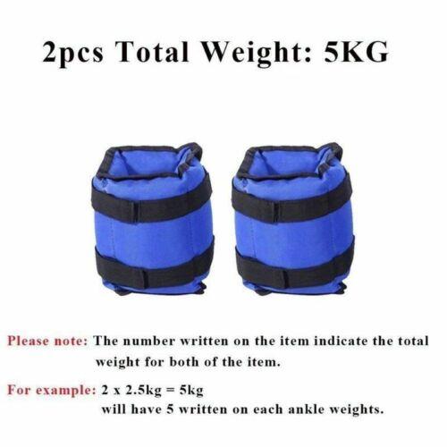 Paar von 0,5-3 kg Fuß einstellbar Gewichtsmanschetten Profi und Hand-Gewichte