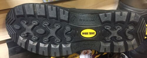 "S660BLK Steel Toe *SALE* Work Zone Black 6/"" Elastic Pull-On Full Grain Leather"