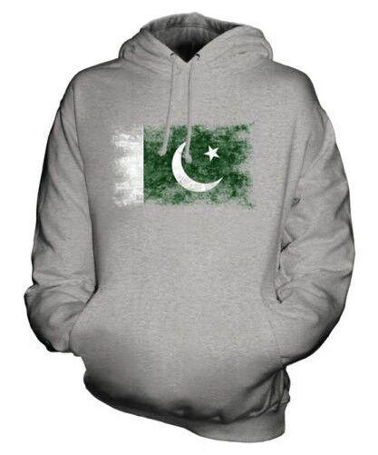 Pakistan Drapeau Délavé Sweat à Capuche Unisexe Haut Football Pakistanais Cadeau