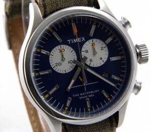 2dbbc4f99bc9 La imagen se está cargando Timex-reloj-senores-chronograph-Waterbury -Weekender-abt007-acero-