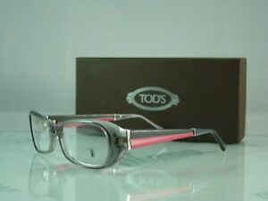 100-AUTHENTIC-TODS-T0-5012-020-GREY-PINK-Frames-Eyeglasses-Spectacles-Size-53