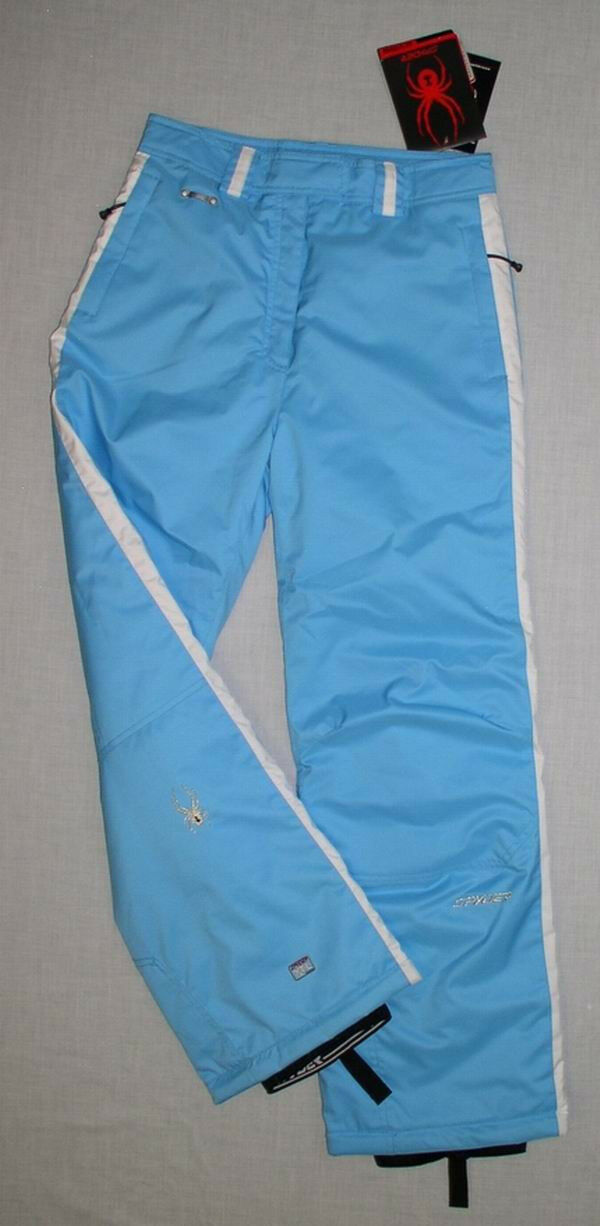 129 NEW SPYDER KIDS GIRLS INSULATED SKI PANTS CIRCUIT 18 WOMENS 6 blueE
