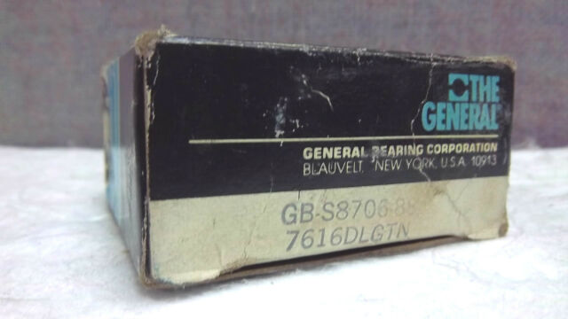 General Bearing,GBC S8706-88 Inner Ring Bearing, Compare2 NICE 7616 DL, SKF