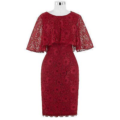 Kurz Spitze Kleider für Brautmutter Abendkleid Cocktailkleid Ballkleid GR 32-46