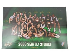 2003-Seattle-Storm-Team-Photo-WNBA-BEAT-LA-11-034-x-17-034-Bird-amp-Jackson-SGA