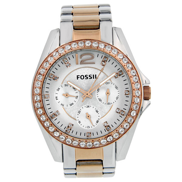 Fossil Riley Multi-Function Two-tone Ladies Watch ES2787