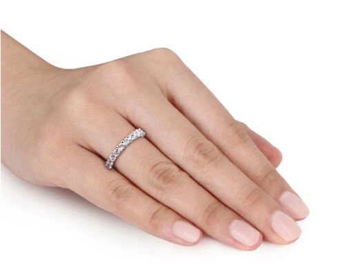 Details about  /1.00 Carat ctw Lab-Created White Sapphire Ring In Sterling Silver