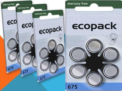 18 x Varta Ecopack Typ 675 Mercury Free Hörgerätebatterien PR44
