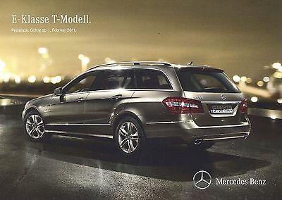 Effizient Mercedes E-klasse T-modell 212 Preisliste 2011 1.2.11 Price List Prijslijst Auto Ideales Geschenk FüR Alle Gelegenheiten