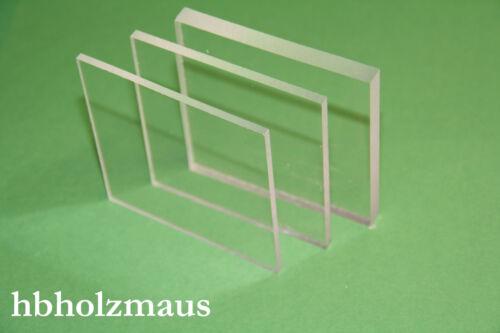 (49,99€/m²) 4 mm PLEXIGLAS® XT klar, Acrylglas Zuschnitt Größe wählbar
