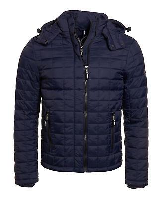 New Mens Superdry Box Quilt Fuji Hooded Jacket Sport Code