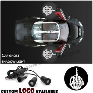 Car Door Skeleton Skull Finger Logo Welcome Shadow Welcome Projector Ghost Light