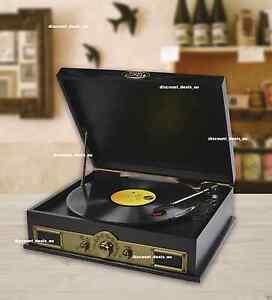 Vinyl-Record-Player-BLUETOOTH-AM-FM-Radio-Music-Turntable-Wireless-Speakers-USB