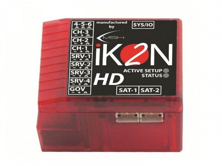 Sistema Flybarless giroscópico iKON 2 HD con projoección de polaridad & Rescue modo IKON 2003