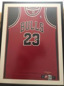 huge discount fd803 ee603 Details about Michael Jordan Autographed Framed HOF Jersey . With  Inscription