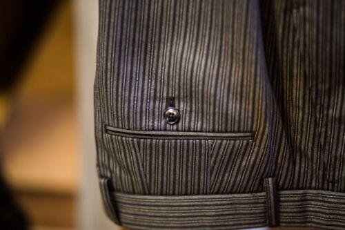 WEDDING PINSTRIPE TROUSERS BLACK GREY DRESS MASONIC FUNERAL DIRECTORS TROUSERS