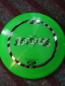 Discraft First Run Elite Z Sting 167-169 gram Green Golf Disc