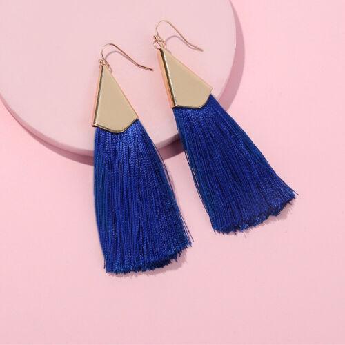 Fashion Vintage Gold Long Tassel Earrings for Women Drop Dangle Brush Earrings
