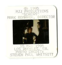 Michael Jackson SCREAM SHOOT Press SLIDE original 35mm PROMO Photo JANET JACKSON