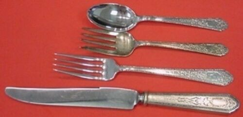 4pc s Mary II by Lunt Sterling Silver Regular Size Place Setting