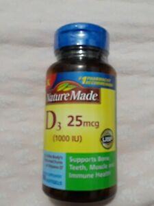 Nature Made Vitamin D D3 1000 Iu 25mcg Softgels 100 Ct Exp 10 21 Ebay