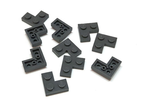 4210635 lego plaque coin angle 2x2 gris foncé 10 pièces