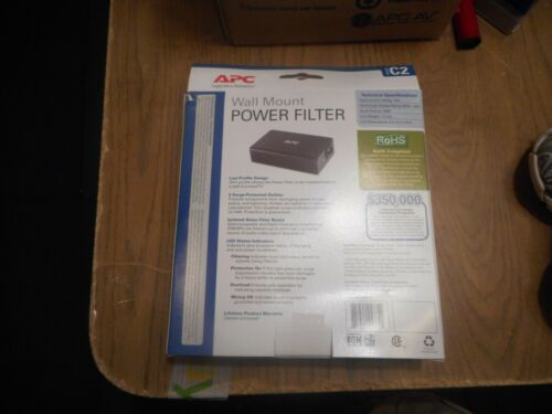 APC C2C 2-Outlet Surge Protection Noise Filtering Wall-Mount Power Filter BNIB