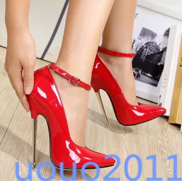 prezzi eccellenti Sexy donna Ladies 16cm High Heels Pointed Pointed Pointed Toe Metal Heel Pointed Toe scarpe Dimensione  molto popolare