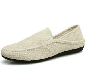 Mens Canvas Casual Low Top Shoes Slip
