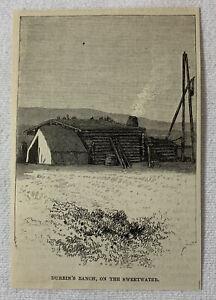 1885-Revista-Grabado-DURBIN-039-S-Ranch-Encendido-The-Sweetwater-Wyoming