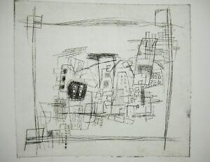 Gravure Moderniste Signée Annie O Art Moderne Avant-garde Artisteprint C1960 Baykjqov-10103642-521369932