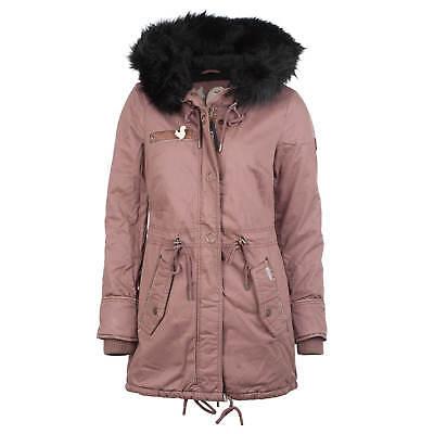 Khujo Dorota Cappotto da Donna senza Vecchiovecchio Rosa Giacca Invernale Eskimo | eBay