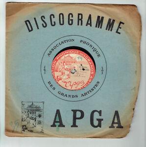 78T-26cm-ORCHESTRE-APGA-Disque-CLOCHES-CORNEVILLE-LE-PETIT-DUC-ARTISTES-150013