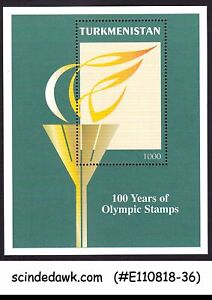 TURKMENISTAN-1997-100-YEARS-OF-OLYMPIC-STAMPS-MIN-SHT-MNH