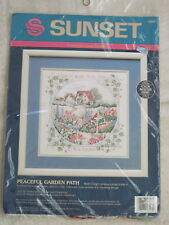 PEACEFUL GARDEN PATH Ann Craig Sunset / Dimensions Counted Cross Stitch Kit NEW