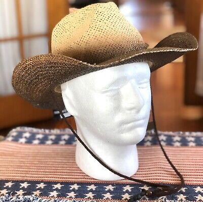 New ROCK STAR Rock n Roll Cowboy Shapeable Western Raffia Straw River Hat Black