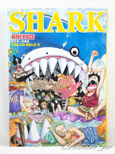 "F//S /""ONE PIECE/"" Illustration Book COLOR WALK 5 SHARK from Japan"