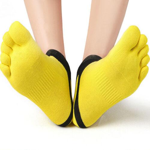 Mens Five Toe Cotton Socks Pure Sports Trainer Running Finger Socks Breathable N