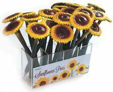 XONEX YELLOW SUNFLOWER SUN Flower SINGLE PEN Black Ink Ballpoint Pen #10714