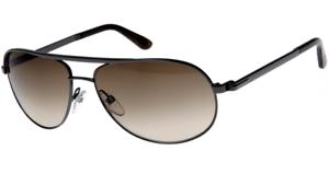 Tom Ford MATHIAS Sunglasses Gun Metal Frame Brown Lens FT0143 08F 58-14 140