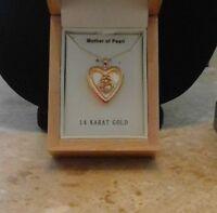 Krementz 14kt Solid Gold Mother Child Heart Locket Usa 3.4g