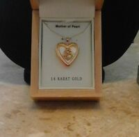 Krementz 14kt Solid Gold Mother Child Heart Locket Usa 3.4g