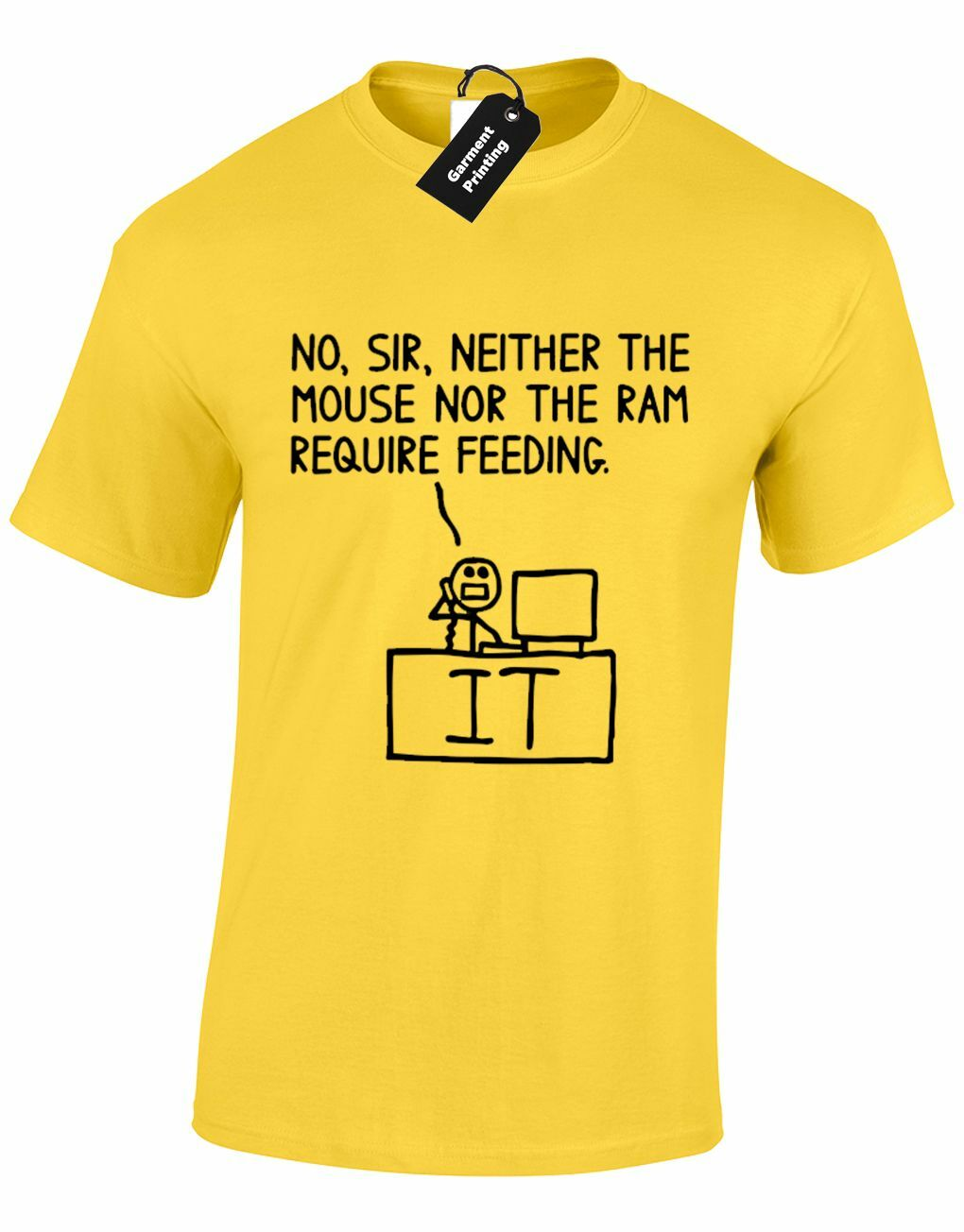 NO SIR NEITHER THE MOUSE MENS T SHIRT FUNNY IT SUPPORT PC COMPUTER PROGRAMMER