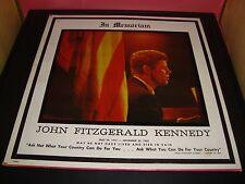 "John Fitzgerald Kennedy In Memoriam 12"" Vinyl Record Album DL 5001 Strand EX+"